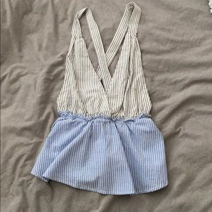 FOREVER 21 BABYDOLL STRIPED TANKTOP